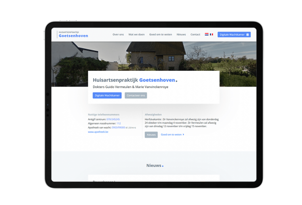 Huisartsenpraktijk Goetsenhoven.be - Website by FLY Media