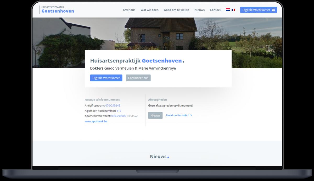 Huisartsenpraktijk Goetsenhoven - Website door Fly Media