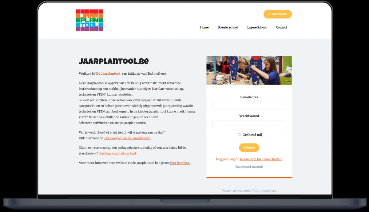 Jaarplantool - Website door Fly Media