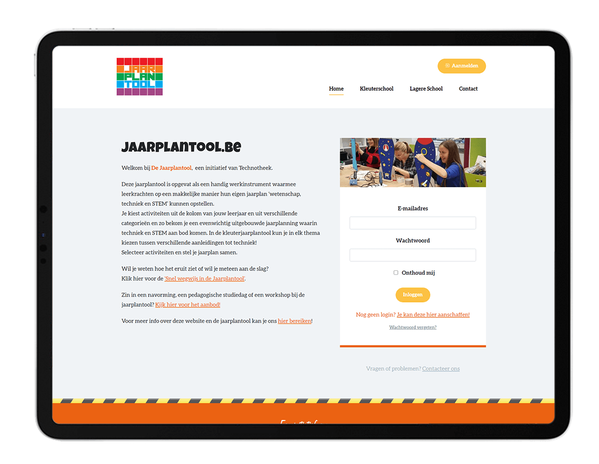 Jaarplantool - Website door FLY Media