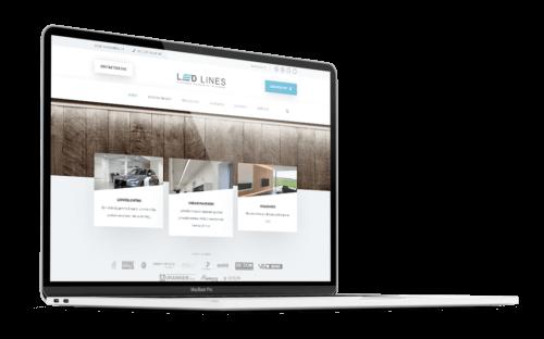 Ledlines.be - Website door FLY Media