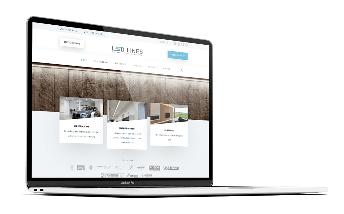 Ledlines.be - Website by FLY Media