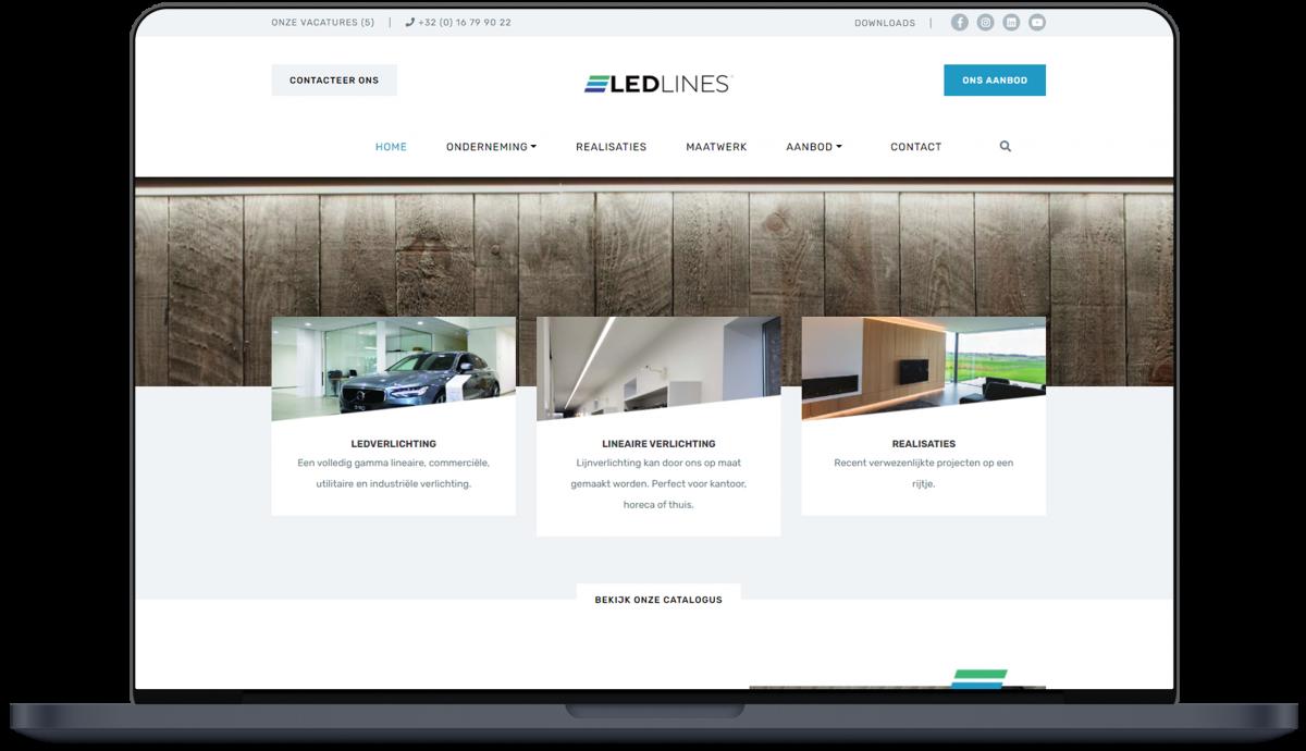 Ledlines - Website door Fly Media