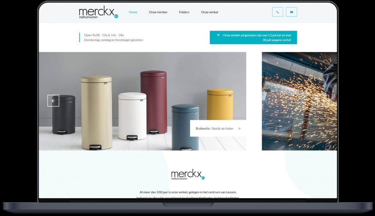 Merckx Metaalwaren - Website door Fly Media