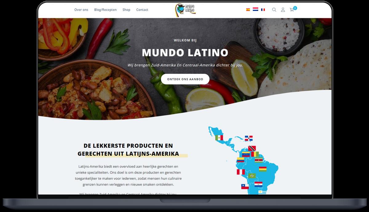 Mundo Latino - Website door Fly Media