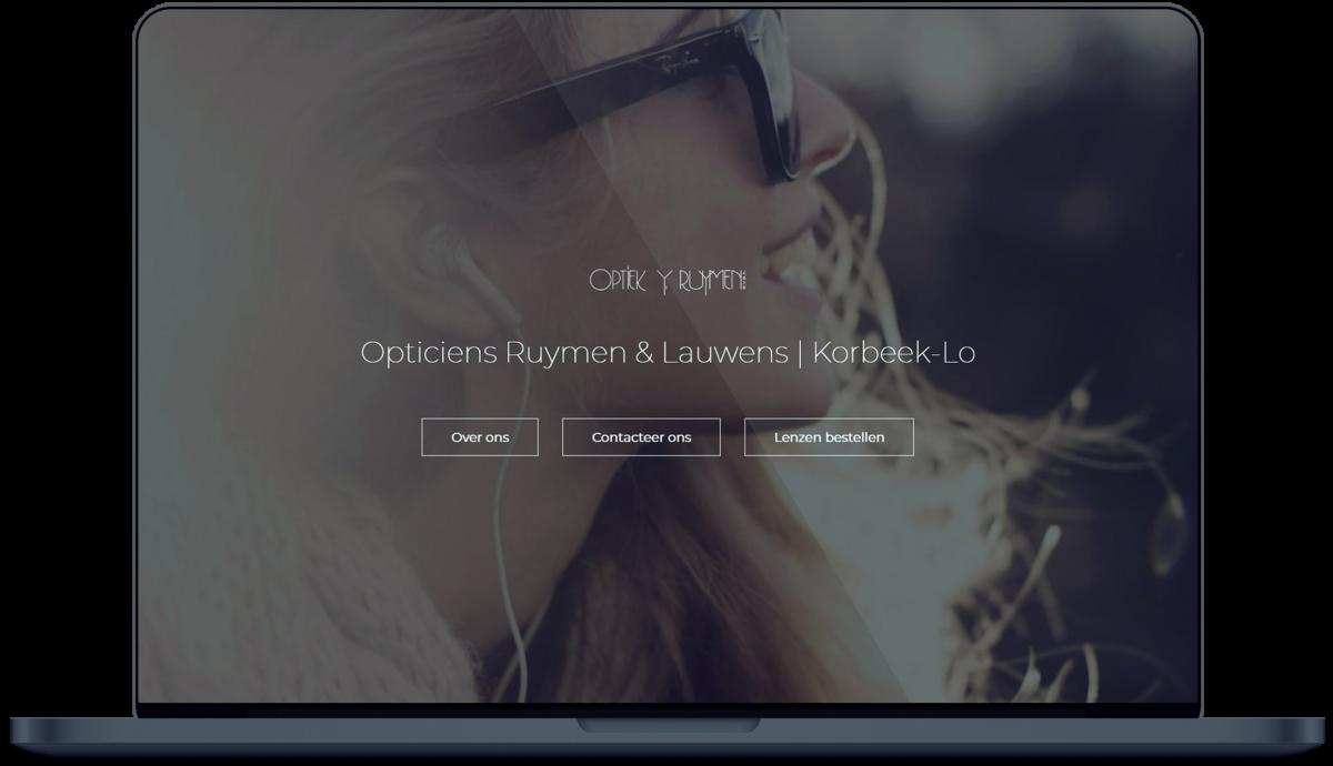 Optiek Ruymen - Website door Fly Media