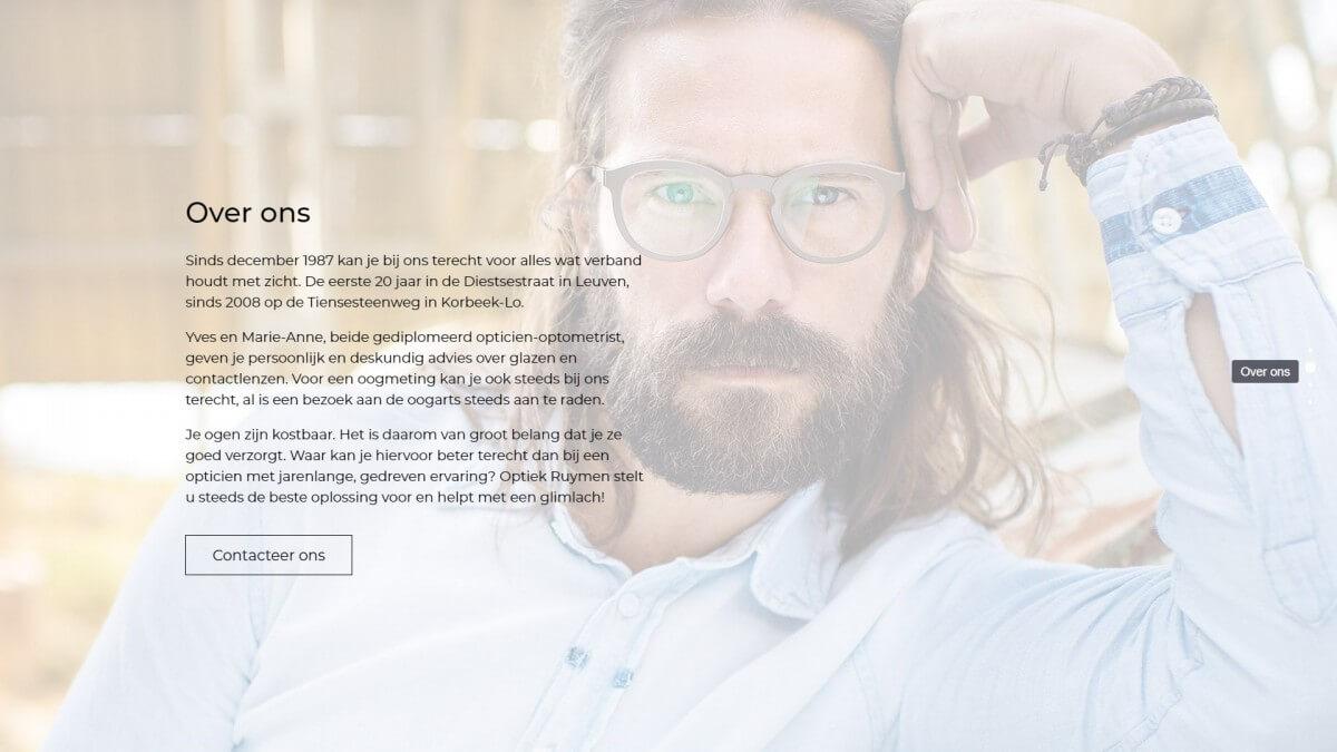 Optiek Ruymen Website door Fly Media