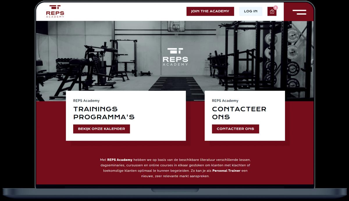 REPS Academy - Website door Fly Media