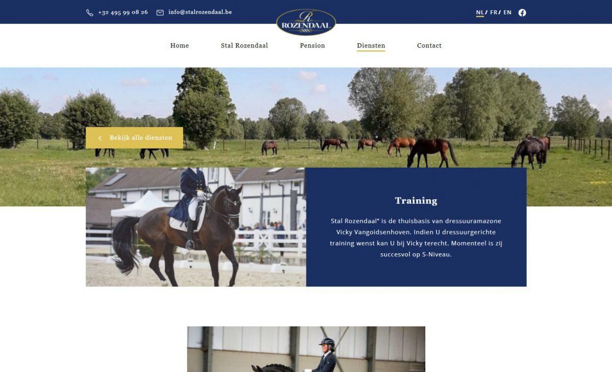 Stal Rozendaal Website door Fly Media