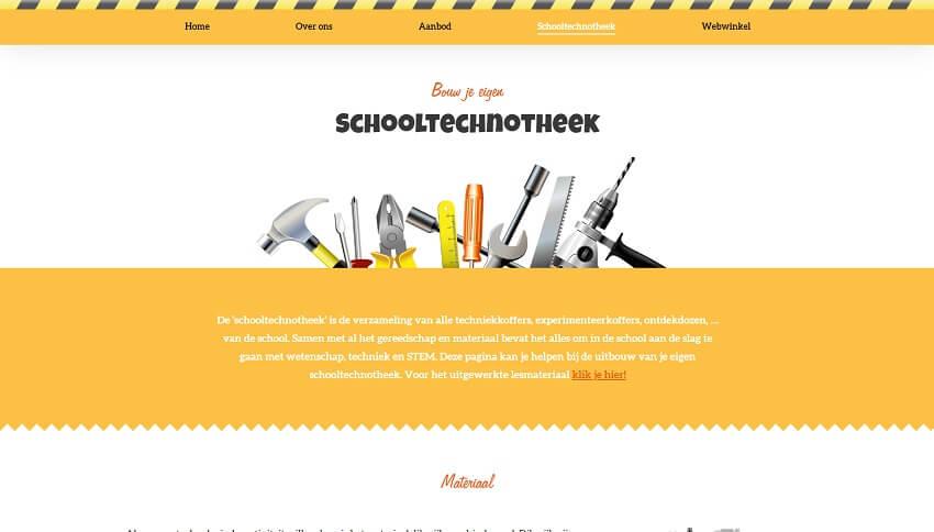 Technotheek Website door Fly Media