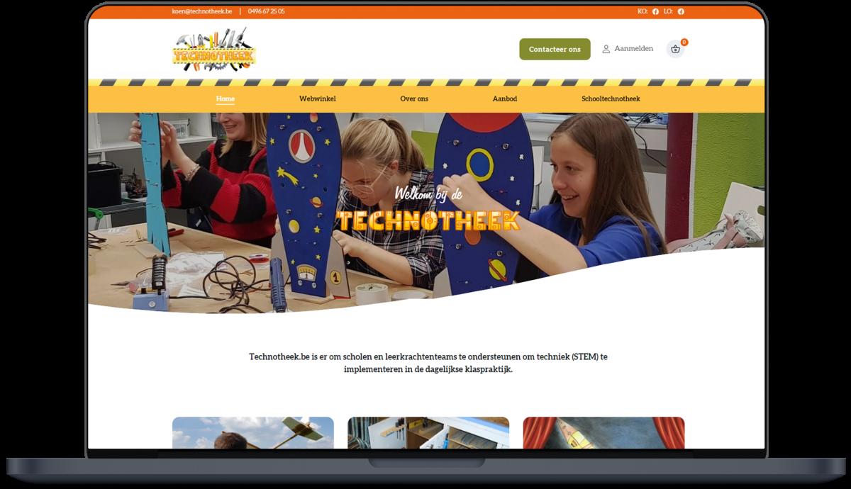 Technotheek - Website door Fly Media