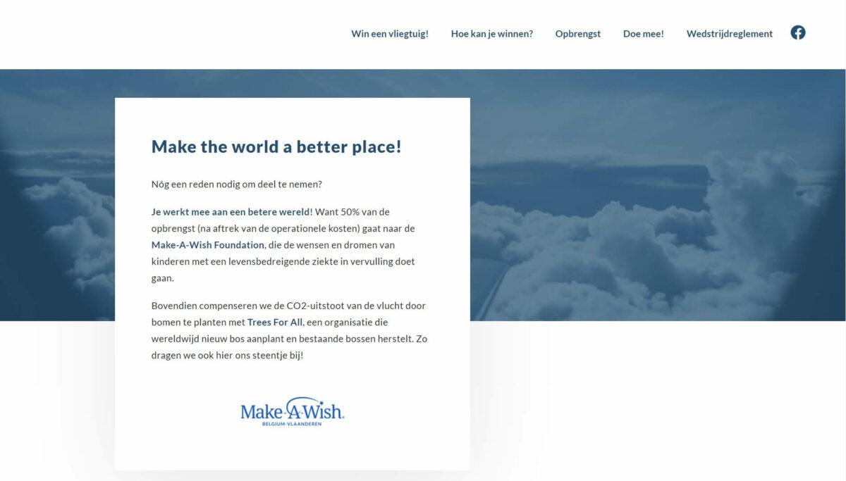 Wineenvliegtuig.be Website door Fly Media
