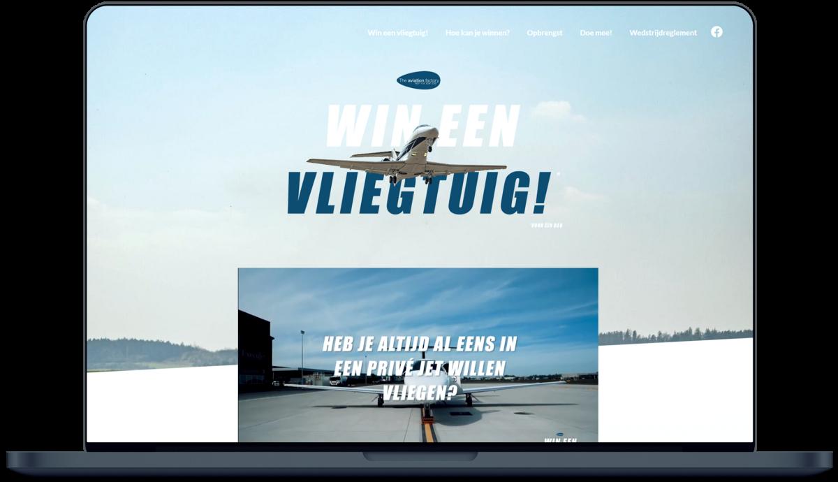 Wineenvliegtuig.be - Website door Fly Media