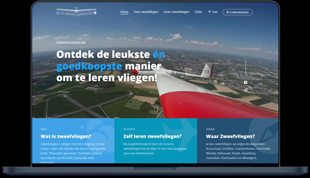 Zweefvliegen.be - Website door Fly Media