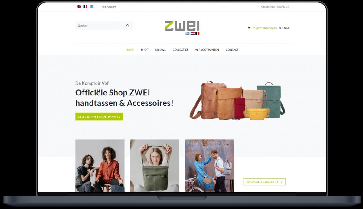 Zwei Bags - Website door Fly Media